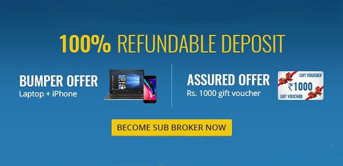 Become sub broker offer banner